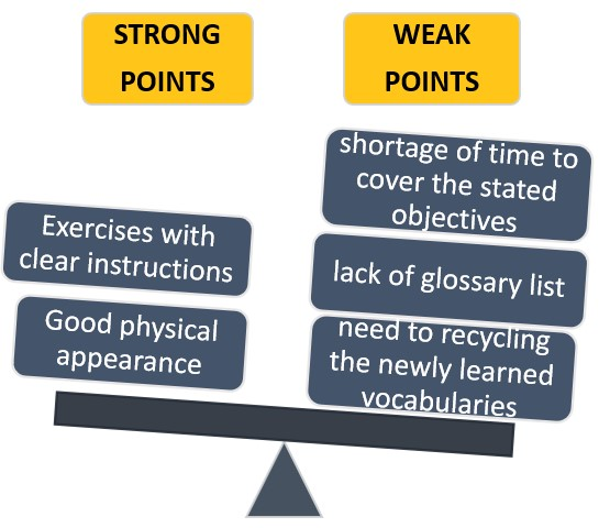 The positive and negative points based on textbook evaluation